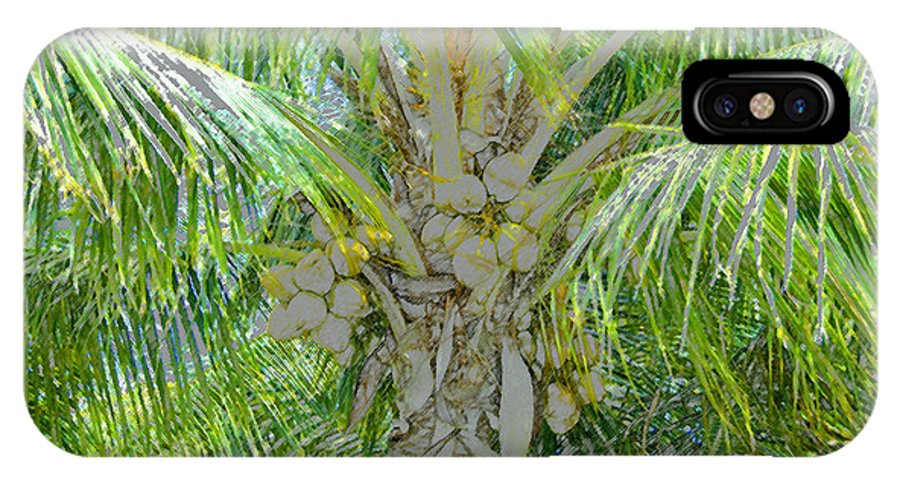 Coconut Palm IPhone X Case featuring the painting Coconut Palm by David Lee Thompson