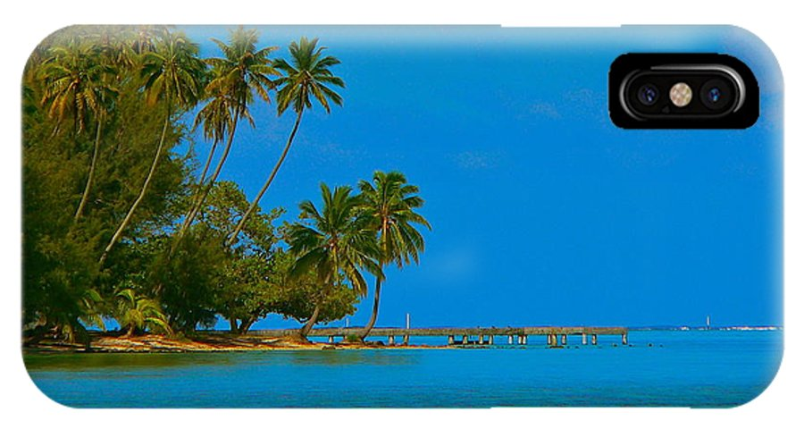 French Polynesia IPhone X Case featuring the photograph Coconuts Anyone by Eric Tressler
