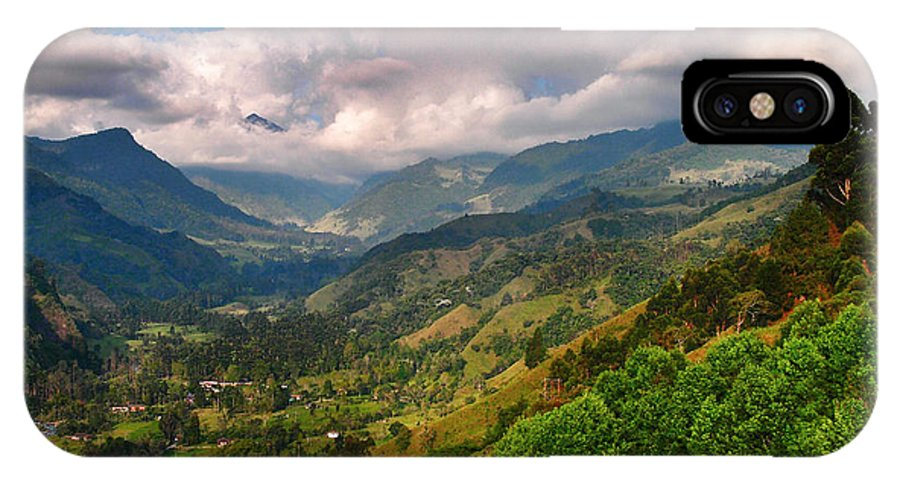 Cocora Valley IPhone X Case featuring the photograph Cocora Valley by Skip Hunt