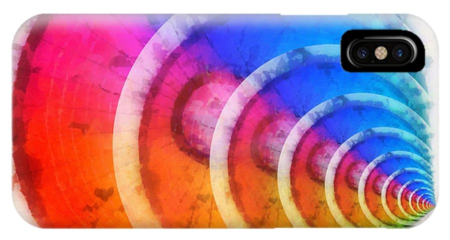 Code IPhone X Case featuring the digital art Code Of Colors 8 by Angelina Vick