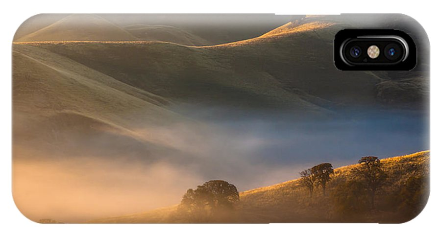 Landscape IPhone X Case featuring the photograph Cold Fog At Sunrise by Marc Crumpler