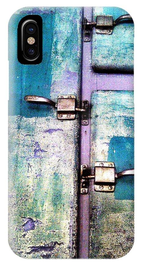 Locker IPhone X / XS Case featuring the digital art Cold Locker by Olivier Calas