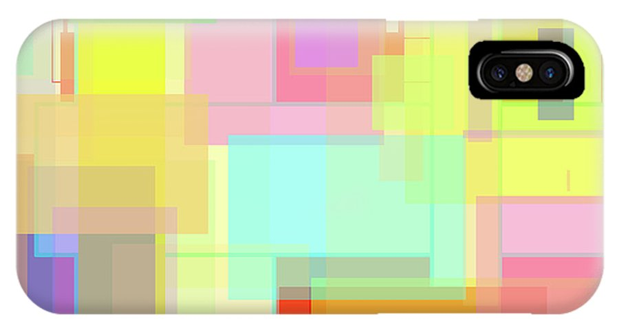 Colorful Art IPhone X / XS Case featuring the painting Color Symphony by Naomi Jacobs