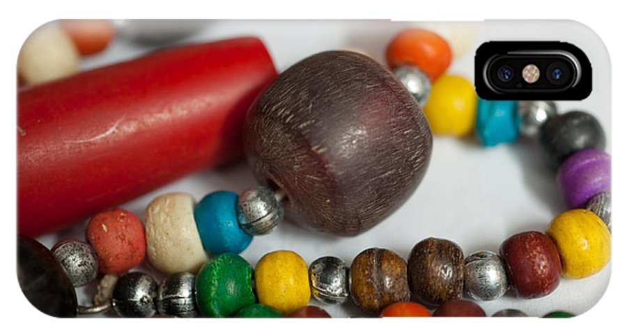 Beads IPhone X Case featuring the photograph Colorful Beads In Chains by Ashish Agarwal