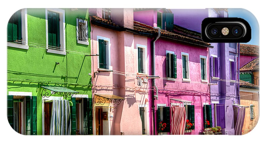 Burano IPhone X Case featuring the photograph Colorful Burano Italy by Jon Berghoff