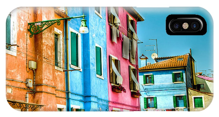 Burano IPhone X Case featuring the photograph Colorful Burano by Jon Berghoff