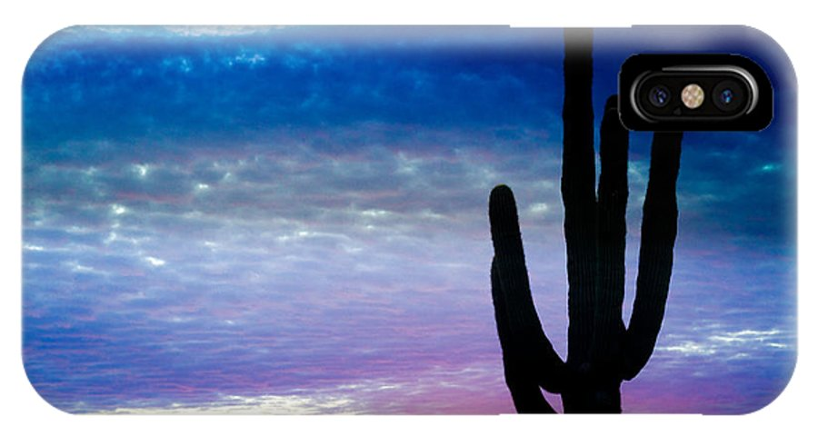 Colorful IPhone X Case featuring the photograph Colorful Southwest Desert Sunrise by James BO Insogna
