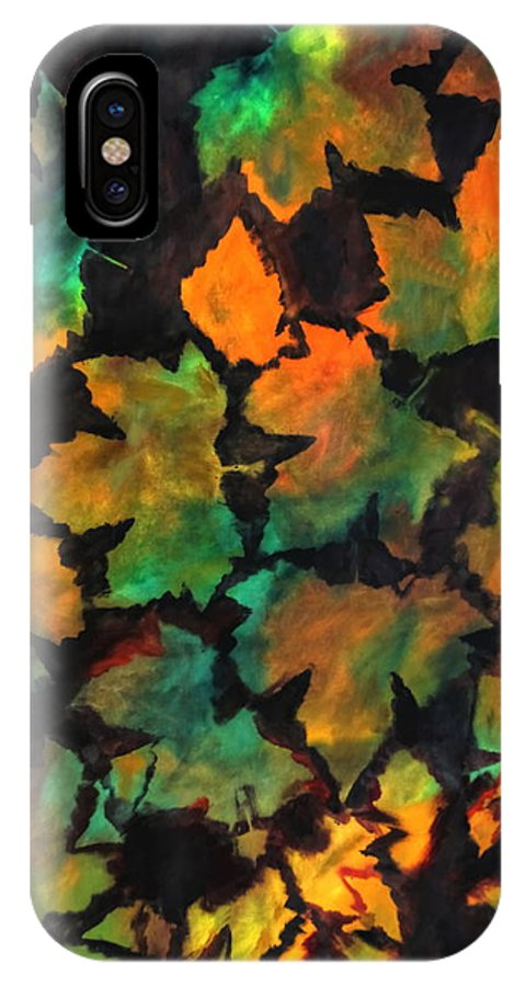 Autumn IPhone X Case featuring the painting Colors Of Autumn by Harri Spietz