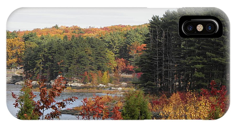Fall IPhone X / XS Case featuring the photograph colors of fall in New England by Kim Galluzzo Wozniak