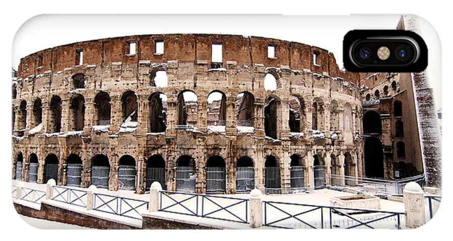 Colosseum IPhone X / XS Case featuring the photograph Colosseum by Fabrizio Troiani