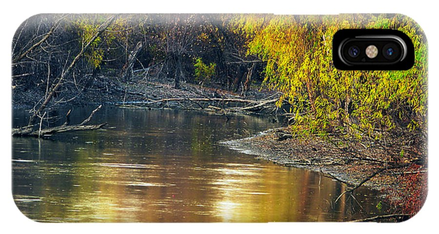 Nature IPhone X Case featuring the photograph Columbia Bottoms Slough II by Greg Matchick