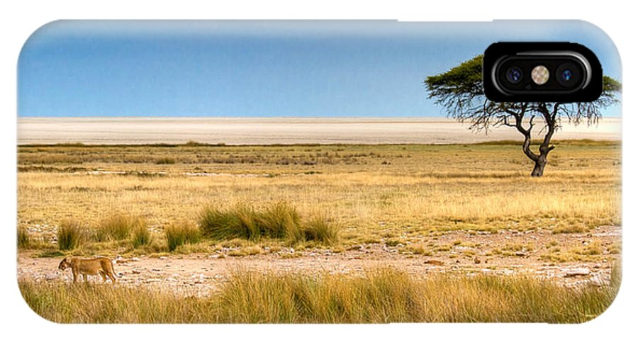 Namibia IPhone X Case featuring the photograph Coming Home by Juergen Klust
