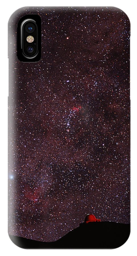 Halley's Comet IPhone X / XS Case featuring the photograph Composite Image Of Halley's Comet & Mauna Kea by Magrath Photographynielsen