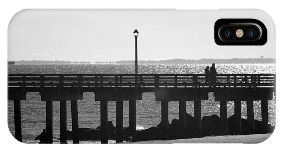 Brooklyn IPhone X Case featuring the photograph Coney Island Coast In Black And White by Rob Hans