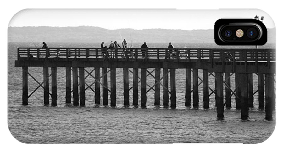 Brooklyn IPhone X Case featuring the photograph Coney Island Pier In Black And White by Rob Hans
