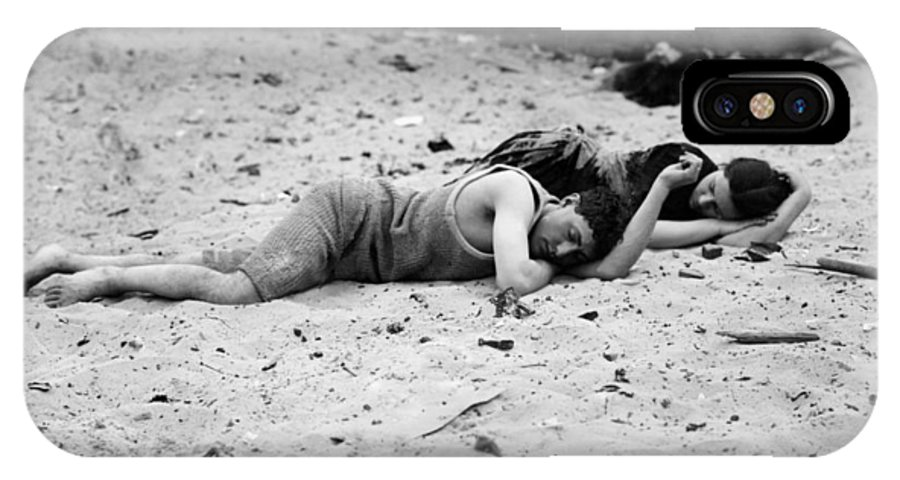 20th Century IPhone X Case featuring the photograph Coney Island: Sleeping by Granger