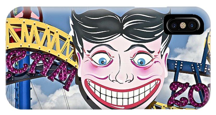 Coney Island Joker Ride Amusement New York IPhone X Case featuring the photograph Coney Joker by Alice Gipson
