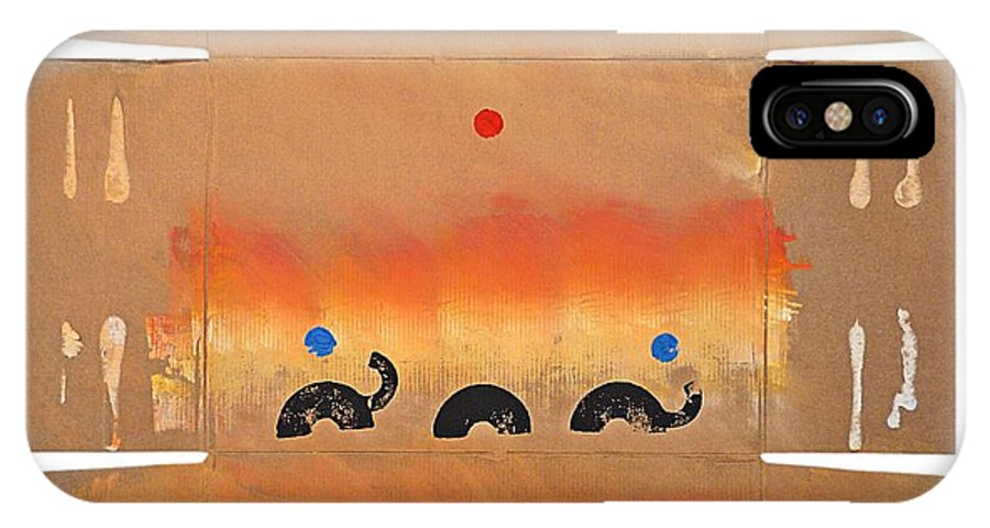 Native IPhone X Case featuring the painting Conflagration by Charles Stuart