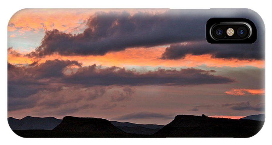 Stormy Sky IPhone X Case featuring the photograph Conflicting Cloud Covers by Patricia Haynes