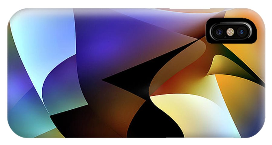 Abstracts IPhone X Case featuring the digital art Soulscape 5 by Endre Balogh