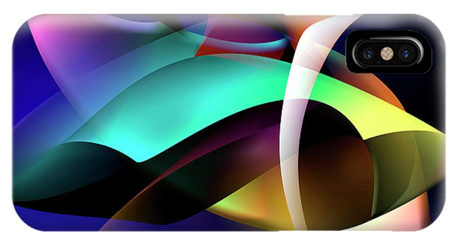 Abstracts IPhone X Case featuring the digital art Soulscape 9 by Endre Balogh