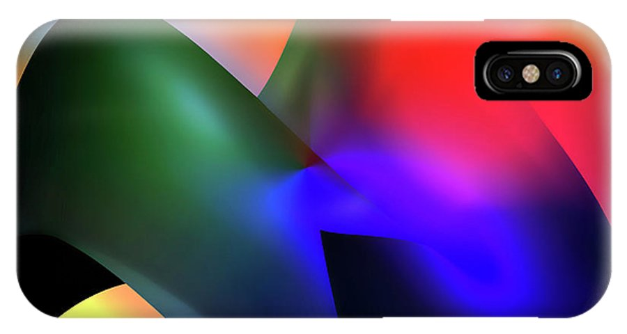 Abstracts IPhone X Case featuring the digital art Soulscape 1 by Endre Balogh