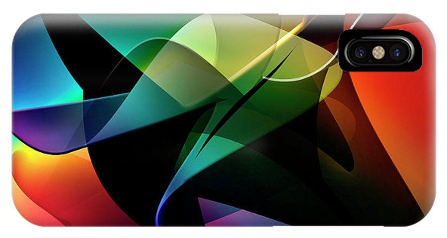 Abstracts IPhone X Case featuring the digital art Soulscape 10 by Endre Balogh