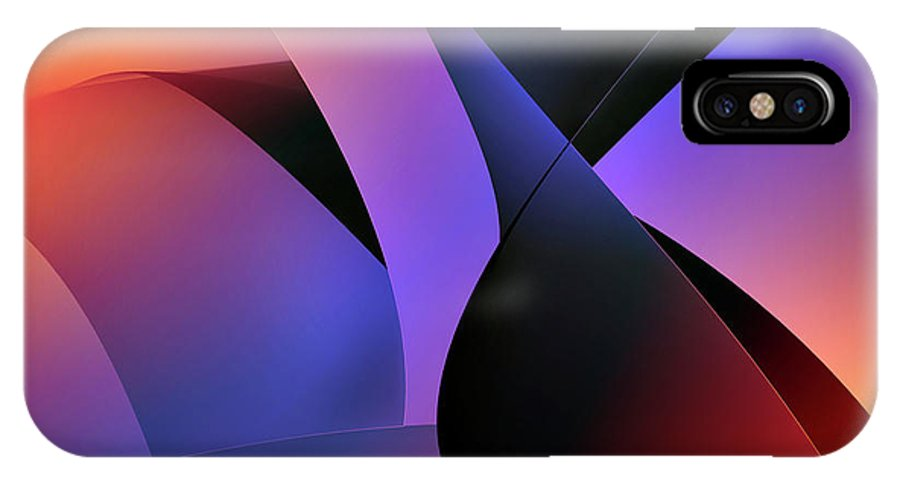 Abstracts IPhone X Case featuring the digital art Soulscape 2 by Endre Balogh