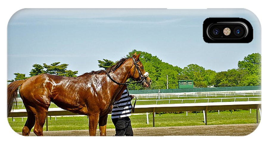 Monmouth Park IPhone X Case featuring the photograph Cooling Off by Catherine Conroy