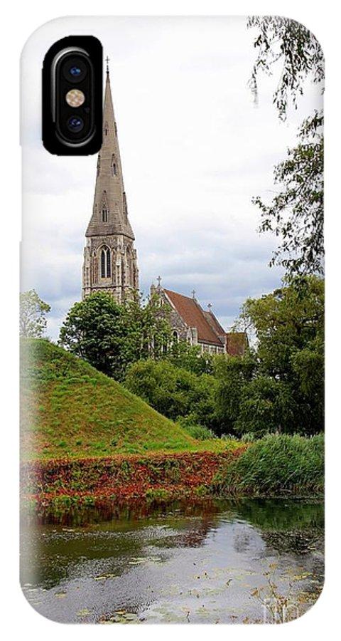 Church IPhone X Case featuring the photograph Copenhagen Church by Sophie Vigneault