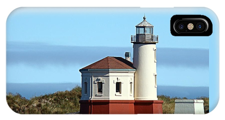 Coast IPhone X Case featuring the photograph Coquille River Lighthouse by Nick Kloepping