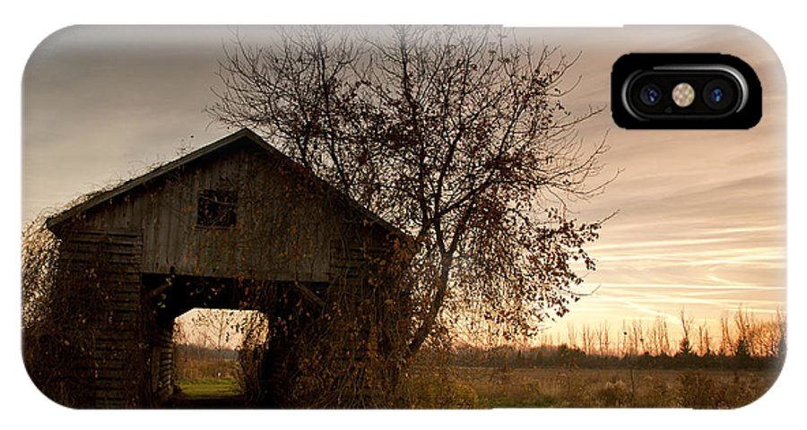 Farm IPhone X Case featuring the photograph Corn Crib by Cale Best