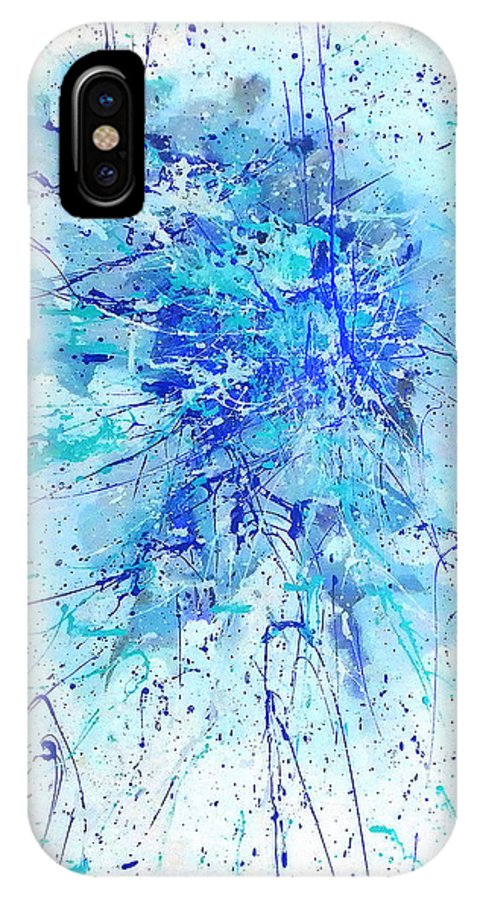 Australian Art IPhone X Case featuring the painting Corroboree 2 by Giro Tavitian