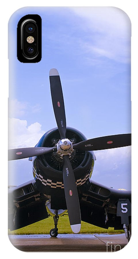 F4u IPhone X Case featuring the photograph Corsair Nose by Tim Mulina