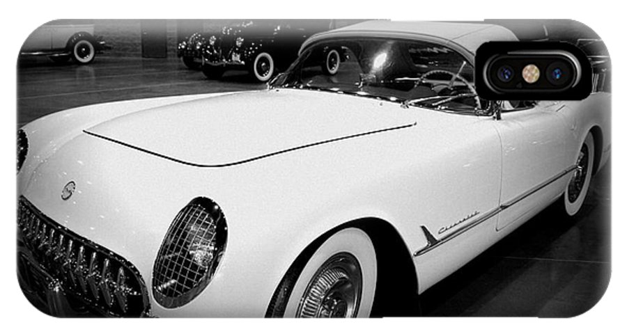 Corvette 55 IPhone X Case featuring the photograph Corvette 55 Convertible by Susanne Van Hulst