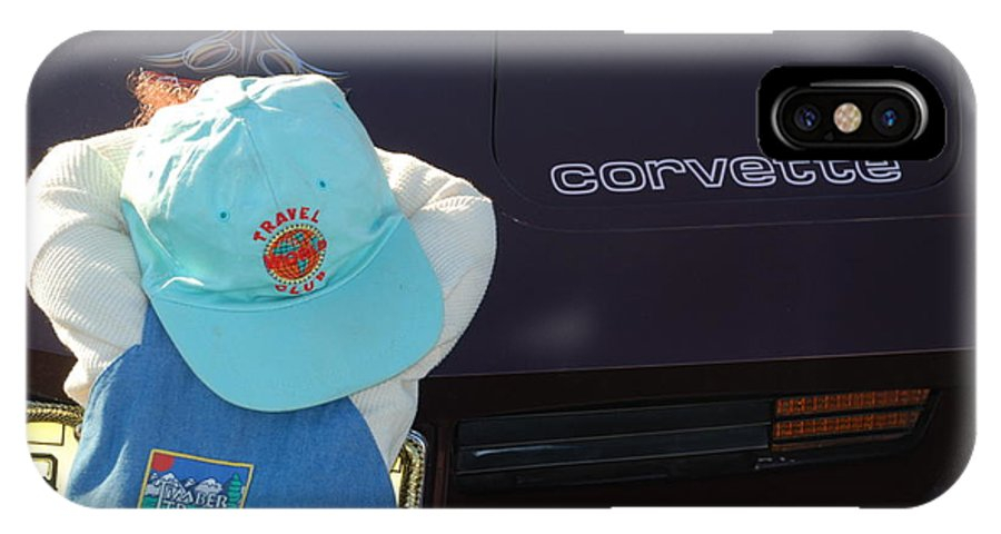 Corvette IPhone X Case featuring the photograph Corvette Crier by Richard Bryce and Family