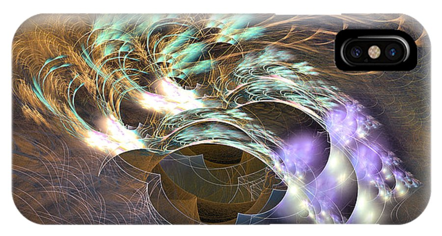 Decor IPhone X Case featuring the digital art Cosmos Under Water - Fractal Art by Sipo Liimatainen