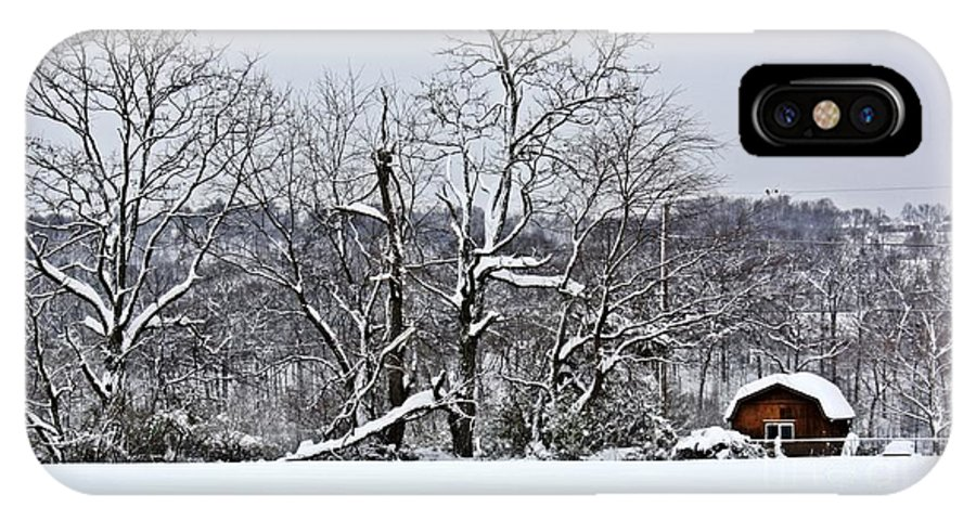 Alone IPhone X Case featuring the photograph Country Christmas 5 by Dan Stone