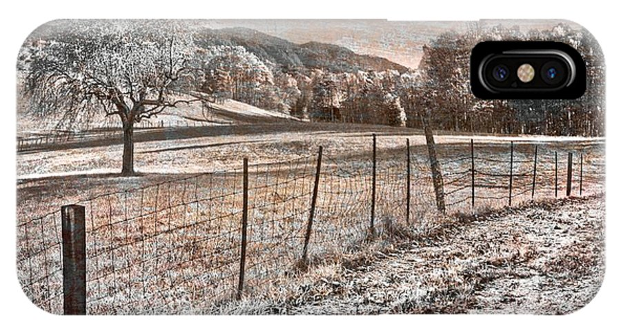 Appalachia IPhone X Case featuring the photograph Country Lane by Debra and Dave Vanderlaan