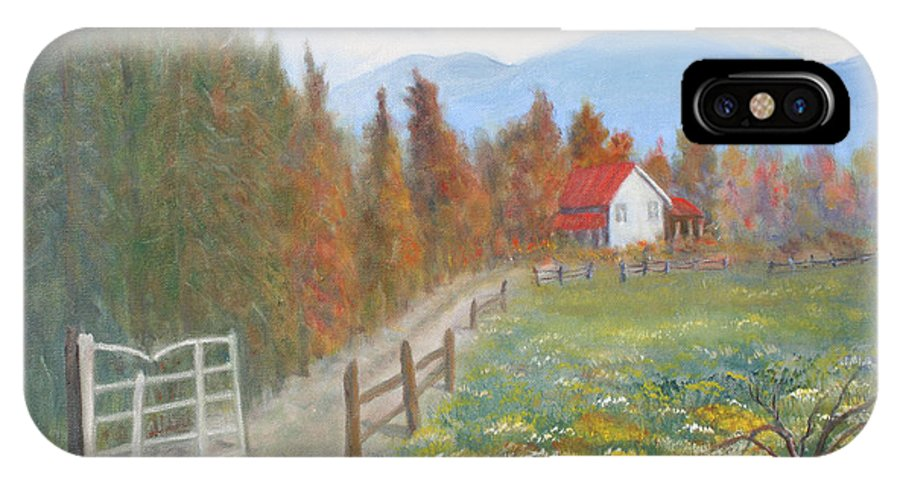 IPhone X Case featuring the painting Country Road by Ben Kiger