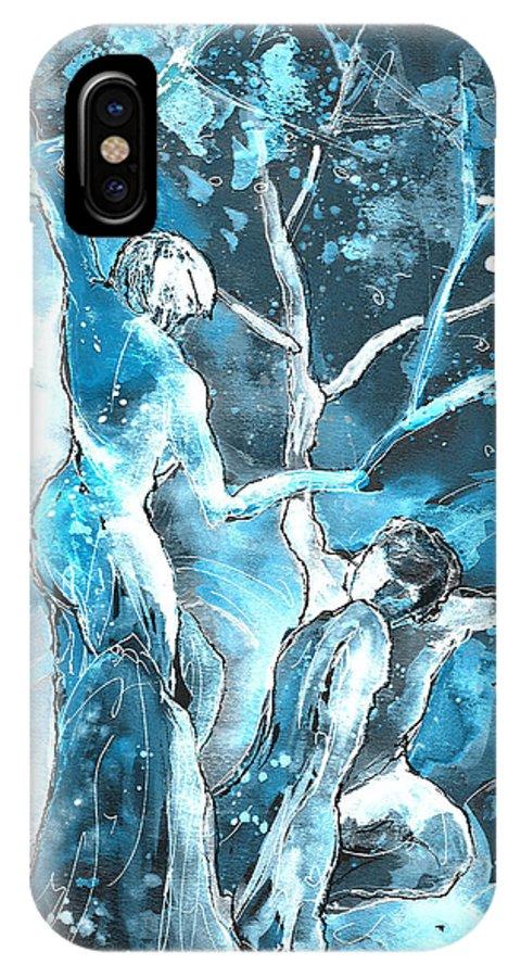 Fantascape IPhone X Case featuring the painting Coup De Grace 02 by Miki De Goodaboom