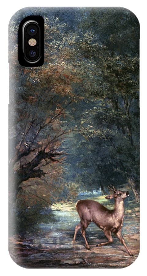 1866 IPhone X Case featuring the photograph Courbet: Hunted Deer, 1866 by Granger