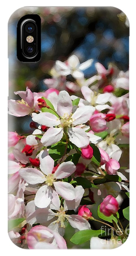 Crabapple Tree Flower IPhone X Case featuring the photograph Crabapple Tree Flower by Eva Kaufman
