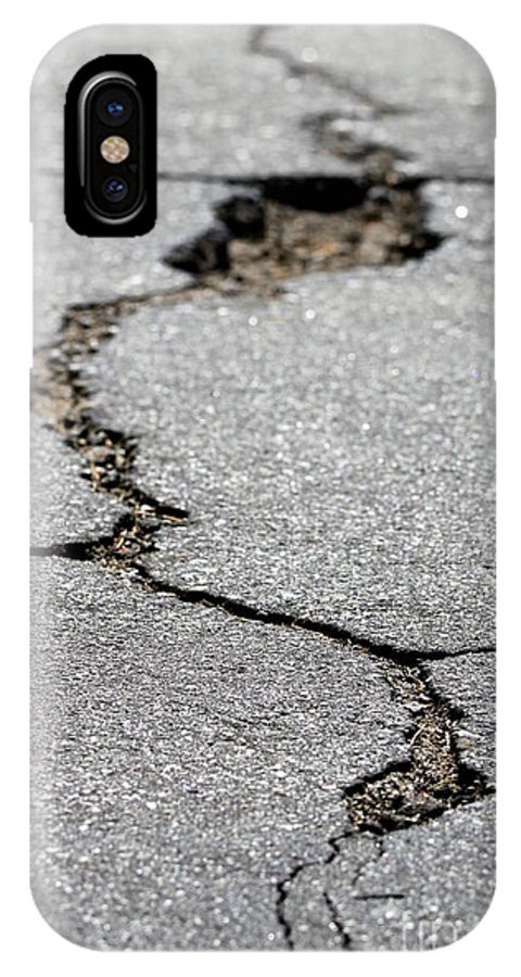 Street IPhone X Case featuring the photograph Crack In The Street by Henrik Lehnerer