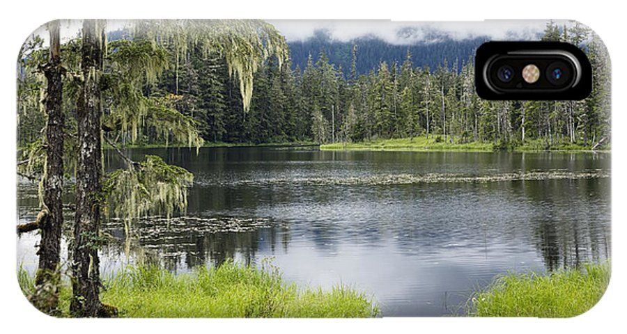 Mp IPhone X Case featuring the photograph Crane Lake, Tongass National Forest by Konrad Wothe
