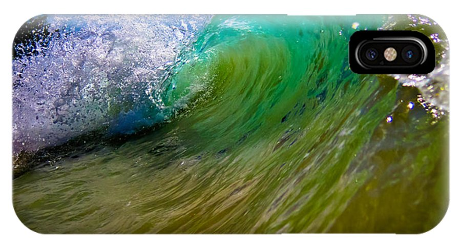 Caya Laventado IPhone X Case featuring the photograph Crashing Wave by Keith Allen
