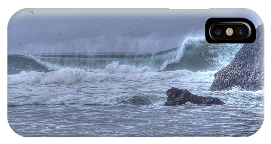 Ocean IPhone X Case featuring the photograph Crashing Wave by One Rude Dawg Orcutt