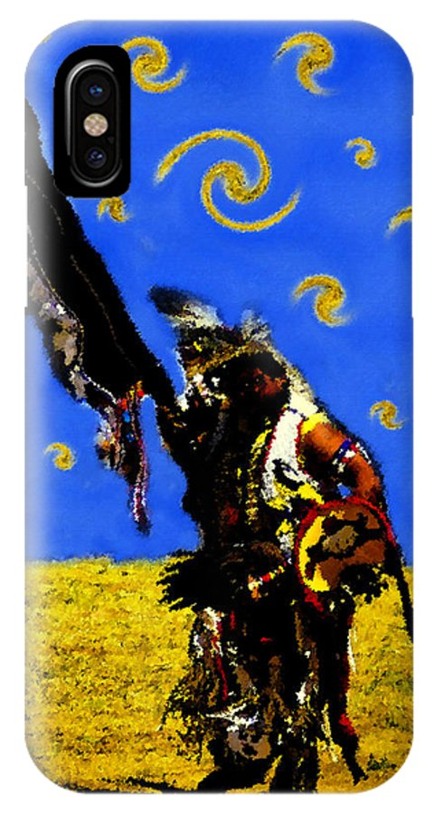 Art IPhone X Case featuring the painting Crazy Eyes Vision Dance by David Lee Thompson
