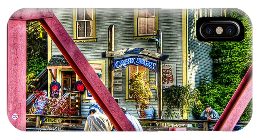 Creek Street IPhone X Case featuring the photograph Creek Street - Ketchikan Alaska by Jon Berghoff