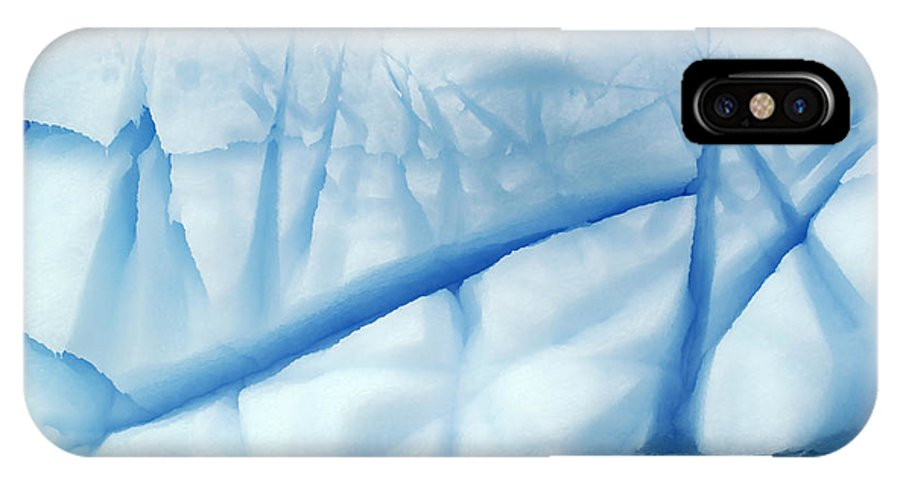 Mp IPhone X Case featuring the photograph Crevasses Created By The Melting by Jan Vermeer